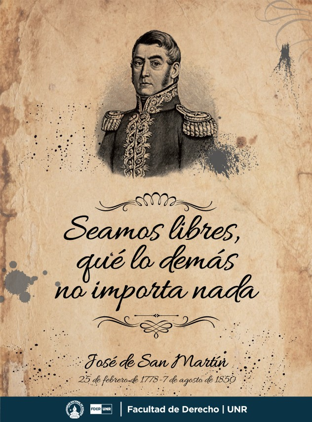 ANIVERSARIO DEL GENERAL  DON JOSE DE SAN MARTIN.