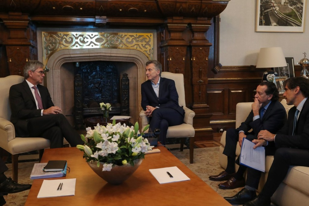 El presidente Macri  Recibió al CEO global de Siemens, Joe Kaeser